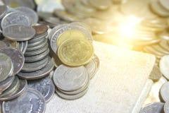 bahten coins thai Royaltyfri Bild