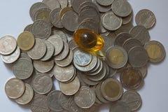 Bahtmünzen Stockfoto