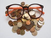 Bahtmünzen, Detail Lizenzfreie Stockbilder