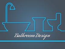 Bahtroom design royaltyfri foto