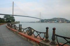 Bai Chay Bridge during the day Stock Image