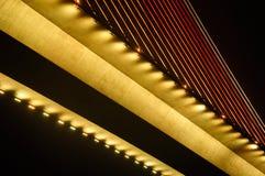 Bai Chay Bridge at Night Royalty Free Stock Images