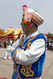 Bai Chinese Man in Traditional Clothing Royalty Free Stock Photo