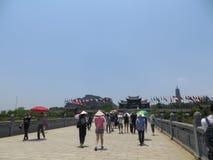 Bai Dinh η παγόδα προσελκύει πολλούς τουρίστες στοκ εικόνες με δικαίωμα ελεύθερης χρήσης