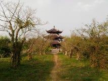 Bai Dinh tempel Royaltyfri Fotografi