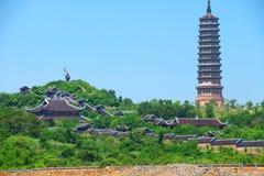 Bai Dinh Temple komplex Royaltyfri Bild