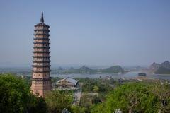 Bai dinh temple in ninh binh, vietnam royalty free stock image