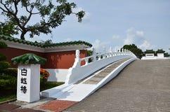 Bai Hong-Brücke im Singapur-Chinese-Garten Stockbild