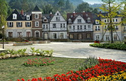 Bai Lu, China: French-style Village Houses Royalty Free Stock Images