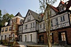 Bai Lu, China: Half-Timbered French-Styled Houses Royalty Free Stock Photo