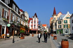 Bai Lu,China: Main Street of Sino-French Village Royalty Free Stock Photography