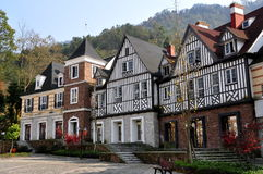 Bai Lu,China: Normandie Style Half-Timbered Manor Houses Stock Photography