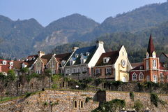 Bai Lu, China: Sino-French Village Houses Stock Image