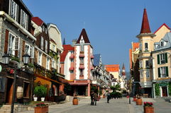 Bai Lu, China:  Sino-French Village Main Street Stock Photography