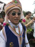 Bai Man -- En kinesisk etnisk minoritet i det Yunnan landskapet royaltyfri fotografi