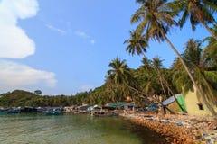Bai Men (praia), ilhas dos homens de Nam Du, província de Kien Giang, Vietna Fotografia de Stock Royalty Free