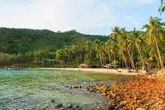 Bai Men (praia), ilhas dos homens de Nam Du, província de Kien Giang, Vietna Imagem de Stock Royalty Free
