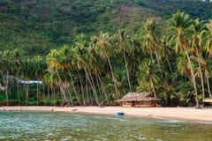 Bai Men (praia), ilhas dos homens de Nam Du, província de Kien Giang, Vietna Fotografia de Stock