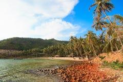 Bai Men (praia), ilhas dos homens de Nam Du, província de Kien Giang, Vietname Imagem de Stock Royalty Free