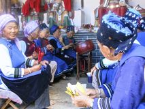 Bai People Playing Music i Kina Royaltyfri Bild