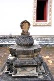 Bai Sema Wat Chomphu Wek Es hat vom Sandstein gemacht, der in der thailändischen Artarchitektur schnitzt lizenzfreie stockfotos