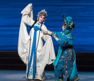 """Bai Suzhen's fate-The seventh act Disintegration of families-Kunqu Opera""""Madame White Snake"""". Legend of the White Snake is one of the most famous tales Stock Images"""