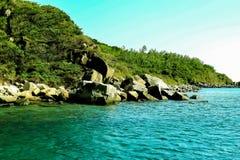 Bai Tranh beach, popular tourist destinations at Nha Trang. Vietnam. Royalty Free Stock Photos