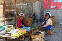 Bai women. BaiTanEr in the street Stock Photos