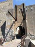 Baia - доступ к замку от drawbridge стоковые изображения rf