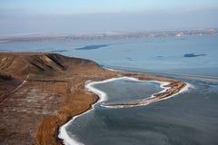 Baia al mare congelato Immagine Stock