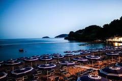 Baia azul na noite Foto de Stock Royalty Free