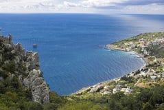 Baia blu, Crimea, Ucraina Fotografie Stock Libere da Diritti
