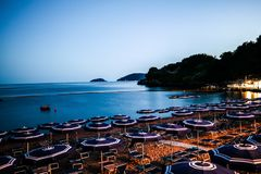 Baia Blu at night. Italian summer night royalty free stock photo