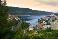Baia, Bosna e l'Erzegovina di Neum Fotografia Stock