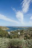 Baia in Cadaques, Spagna di Portlligat Fotografia Stock