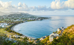 Baia caraibica da sopra Fotografie Stock