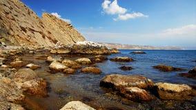 Baia con le rocce, Crimea Fotografia Stock Libera da Diritti