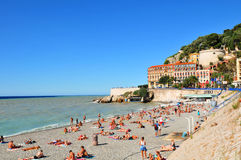 Baia degli angeli, Nizza (la Francia) Fotografie Stock Libere da Diritti