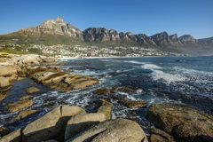Baia dei campi a Cape Town immagine stock libera da diritti