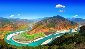 Baia del fiume di Yangtze prima Immagine Stock