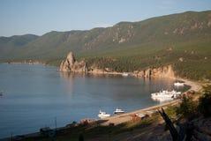 Baia del lago Baikal Fotografia Stock