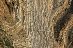 Baia del lulworth delle rocce sedimentarie, costa giurassica Fotografia Stock
