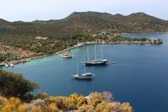 Baia del mar Mediterraneo in Turchia immagini stock