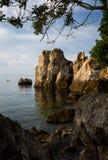 Baia del mare nel tempo di alba Fotografie Stock