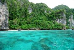 Baia del Maya, Phi di Phi di Ko Fotografia Stock Libera da Diritti