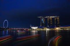 Baia del porticciolo di notte di Wonderfull Fotografia Stock Libera da Diritti