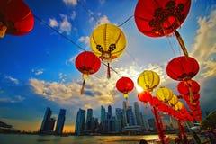 Baia del porticciolo di Singapore Fotografia Stock Libera da Diritti