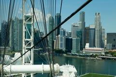 Baia del porticciolo osservata dall'aletta di filatoio di Singapore Immagini Stock