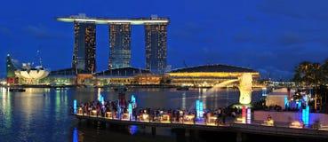 Baia del porticciolo, Singapore Immagini Stock