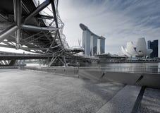 Baia del porticciolo, Singapore Immagine Stock Libera da Diritti